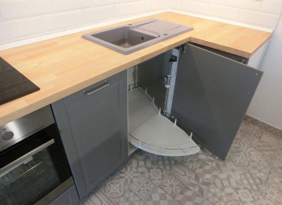 IKEA Konyha összeszerelés - sarokszekrény